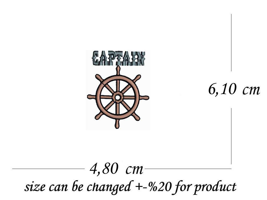 Captain and Helm Themed Sporting Swimming / Bath Towel Custom Name, Special-Design Towel With  Captain and Helm, 70x140 cm