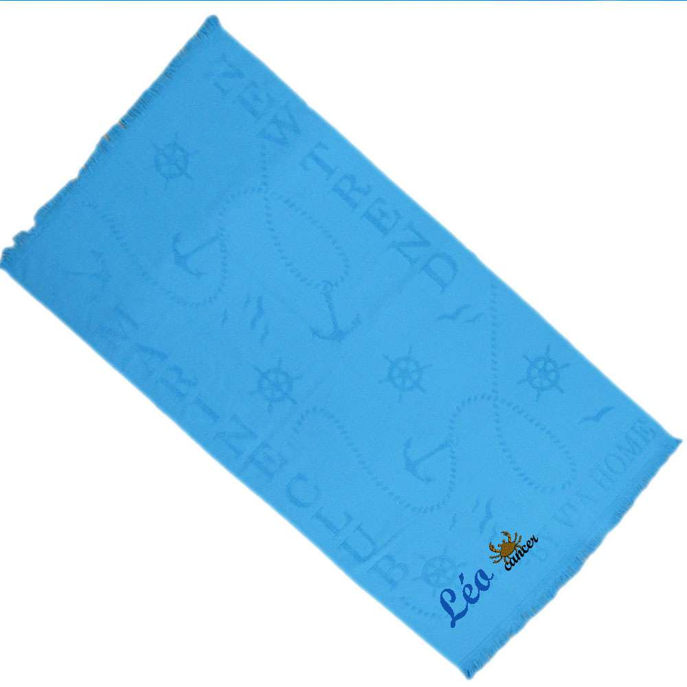 Zodiac Cancer Sign -Themed Bath / Swimming / Shower Towel Custom Name, Special-Design Towel With a Cancer Symbol, 70x140 cm