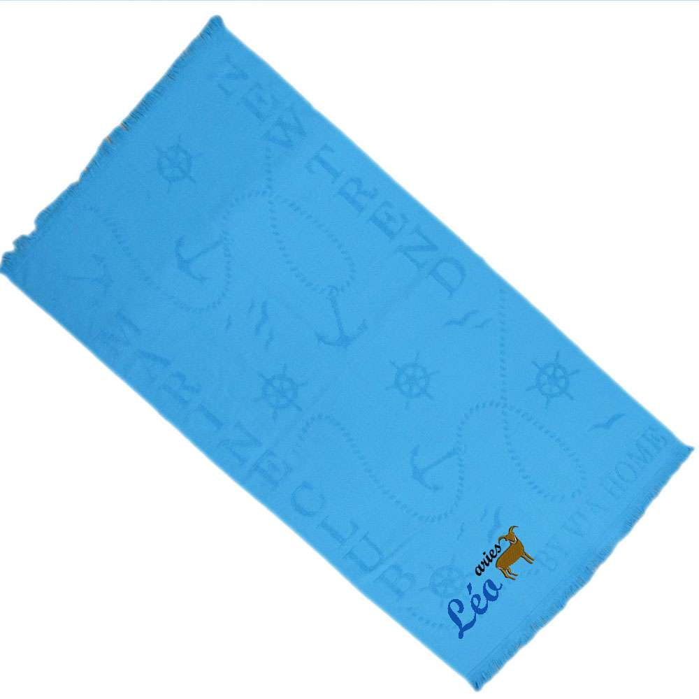 Zodiac Sign, Horoscope -Themed Bath / Swimming / Shower Towel Custom Name, Special-Design Towel With a Aries Symbol, 70x140 cm