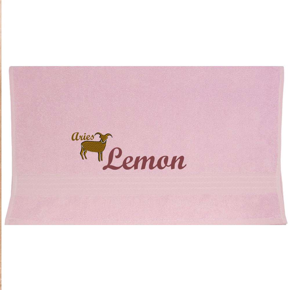 Zodiac Sign, Horoscope -Themed Towel Custom Name, Special-Design Towel With an Aries Symbol 100% cotton  50x90cm